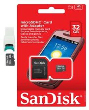 SanDisk 32GB 32 GB MicroSD SD SDHC Class 4 Flash Memory Card w USB Card Reader