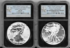 2013-W WEST POINT SILVER EAGLE  EARLY RELEASES PF70 & SP70 STAR BLACK LABEL!
