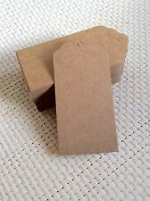 Pack of brown rectangle end gift price tag wedding scallop Blank luggage kraft