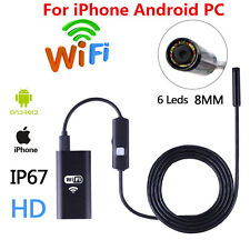 5M 6LED Waterproof WiFI Endoscope Borescope Inspection Camera For iPhone Android