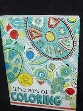 THE ART OF COLORING ADULT COLOR BOOK & FREE 10 CT COLOR PENCILS