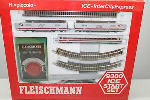 Fleischmann 9380 Starter Set Rail Car Train Series 401 Ice Trafo N Gauge Boxed