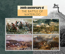 St. Vincent 2015 - Battle of Waterloo 200th Anniversary - Sheet of 4 Stamp - MNH