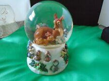 "Disney Bambi Snow Globe by Enesco Plays ""Cantique de Noel"""