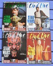 Lot de 4 Cine Live spécial Star Wars n°28, octobre 1999