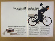 1984 IBM Portable PC Personal Computer 'Introducing' photo vintage print Ad