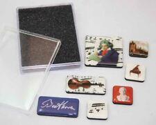 7 diferentes Imanes Pines En Caja de regalo Beethoven motivos