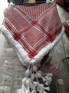 handmade jordan Shemagh /Arabic scarf /head dress/ Ghutra white see picturesشماغ