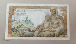 France 1000 francs 1943 aUNC