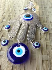 Fatima Turkey Evil Eye Metal Amulet Wall Home Hanging Decoration Hamsa Hand