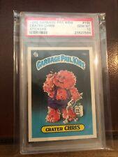 Garbage Pail Kids 1985 1st Series 1 OS1 PSA 10 #19b Crater Chris GEM Matte GPK