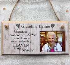 Handmade Personalised Photo Plaque Remembrance Memorial Gift Nan Grandad Mum Dad