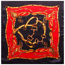 """Women's Black&Red Print Square Scarf Satin Office Head Shawl Scarves 35""""*35"""""""