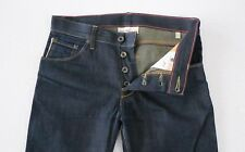 Raleigh Denim Mens Thin Cut Selvedge Denim Jeans 29 30 x 32 Zero Wash $225