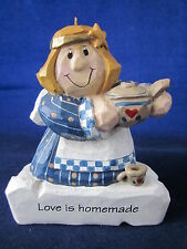 "Eddie Walker Christmas Ornament Angel holding Teapot ""Love is Homemade"" Signed"