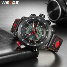 WEIDE Men Sport Casual Waterproof Quartz Digital Date Alarm Chronograph Genuine