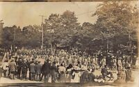 Real Photo Postcard Decoration Day Military Parade in South Bend, Indiana~123759