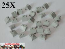 25X Lego® 3039 Basic Steine, Dachstein, Slope, Roof, 45° 2X2 altes Hellgrau