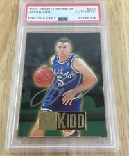 Jason Kidd 1994 Rookie Signed Autographed Card Psa Certified Authentic #221
