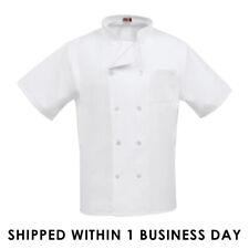 Mens Womens Chef Coat Jacket Kitchen Short Sleeve Cook Restaurant Uniform Usa