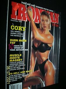 December, 1994  Iron Man .. muscle builder Cory Everson & poster