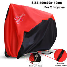 For 2 Mountain MTB Bicycles Bike Cover Waterproof Outdoor Rain Snow UV Protector