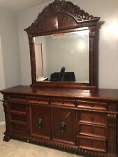 bedroom set queen furniture used Cherry Wood