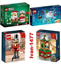 Lego 40274+40293+40253+40254 Christmas Carousel + Nutcracker + Mr. & Mrs. Claus+