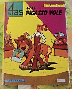 Ancien Album BD les 4 AS de 1974 et le Picasso Volé