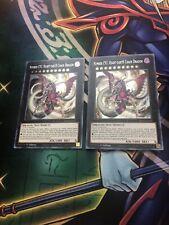 Yugioh! Number C92: Heart-Earth Chaos Dragon BLAR x2 Secret Rare NEW 1st Edition
