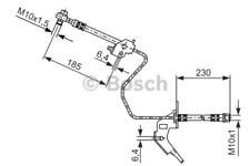 Bremsschlauch für Bremsanlage Hinterachse BOSCH 1 987 476 200