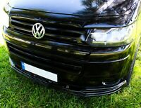 VW T5 MULTIVAN T5.1 2010-14 LOWER ABS GLOSS BLACK SPLITTER SPOILER BUMPER LIP