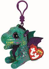Cinder Dragon-Ty Beanie Boos Llavero clave Clip-Peluche Boo Bebés Juguete De Peluche