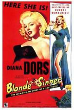 BLONDE SINNER Movie POSTER 27x40 Diana Dors Yvonne Mitchell Michael Craig Marie