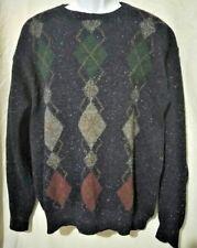 PENDLETON Men's Sweater Sz XL VINTAGE 100% SHETLAND VIRGIN WOOL Thick Argyle