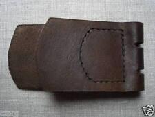WWII WW2 German belt buckle leather tab unmarked