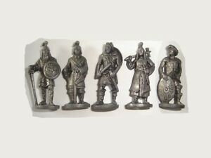 METAL FIGURINES SET - ANCIENT SOLDIERS & WARRIORS IRON VINTAGE - KINDER SURPRISE