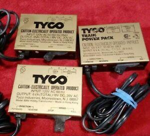 3 Vtg. Tyco Train Controllers Model No. 899B / 899V / 899BP Hobby Transformers