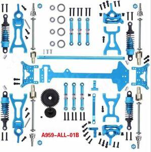 Upgrade Metal Parts Kit Full Set For 1/18 WLtoys A959-B A969-B A979-B K929-B HAU