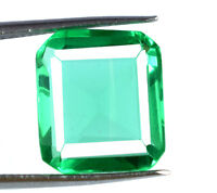 100% Natural 8-10 Ct Muzo Colombian Emerald Gemstone Emerald Cut AGSL Certified