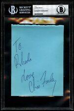 Chris Farley Signed Autograph Cut Inscribed ''Love'' BAS BECKETT LOA