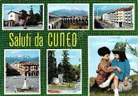 Cartolina Cuneo 6 vedute 1966