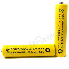 4 pcs AAA 3A 1800mAh Ni-MH Rechargeable Battery Yellow for mp3 CD player