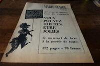 MARIE CLAIRE AVRIL - Publicité de presse / Press advert 1955