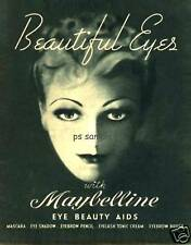 Maybelline - Beautiful Eyes - Vintage Ad Fridge Magnet