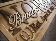 Personalized Sign Custom Carved Family Last Name Barn Ranch Horse Western Wood