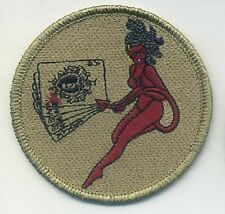 DAESH WHACKER GREEN BERETS SAS JTF2 KSK hook/loop SSI: Deadman's-Hand DEVIL GIRL