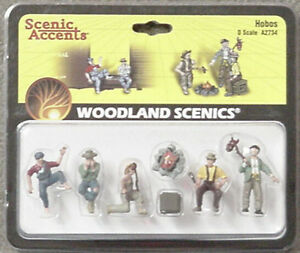 O scale HOBOS around the fire Woodland Scenics Train People # 2734