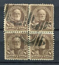 (1895) #272 8¢ Sherman scarce used block of 4 stamps