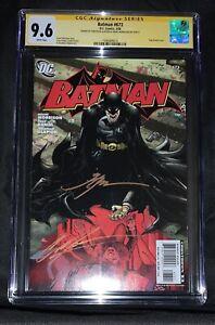 Batman #673 SIGNED 2x Morrison, Glapion CGC SS 9.6 autograph, movie, DC comics 1
